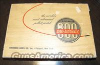 Crosman 600 Semi-Automatic .22 Caliber Air Pistol  Non-Guns > Air Rifles - Pistols > Vintage