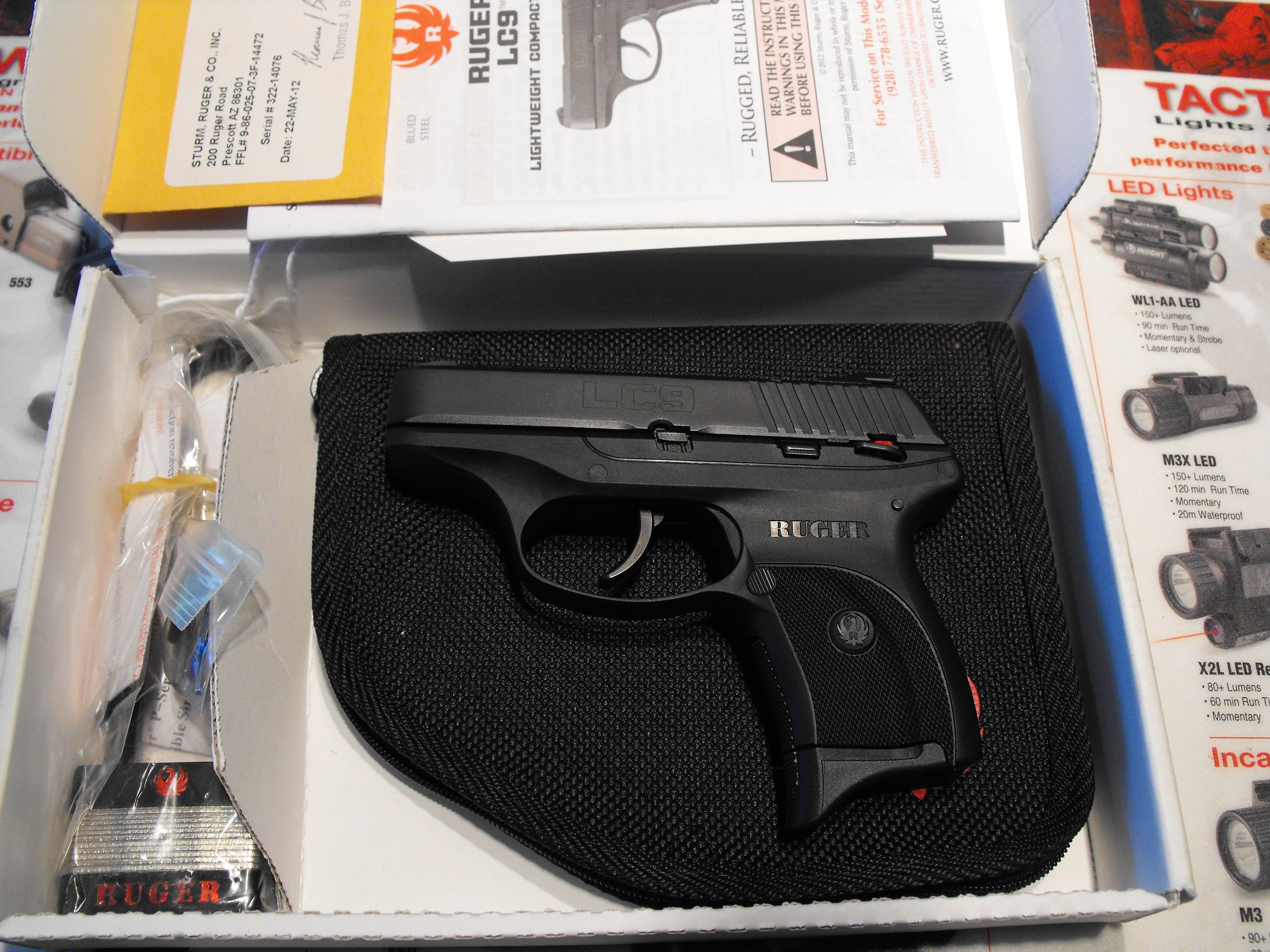 Ruger LC9 As new in the box ! ----->>>> NO RESERVE AUCTION !  Guns > Pistols > Ruger Semi-Auto Pistols > LC9