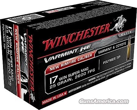 17 WINCHESTER SUPER MAG 25 GR AMMO 200 ROUNDS  Non-Guns > Ammunition