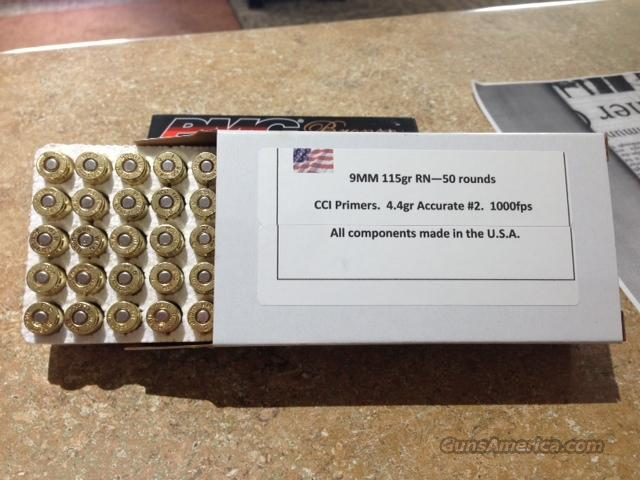 9MM HAND LOADED AMMO 1000 ROUNDS  Non-Guns > Ammunition