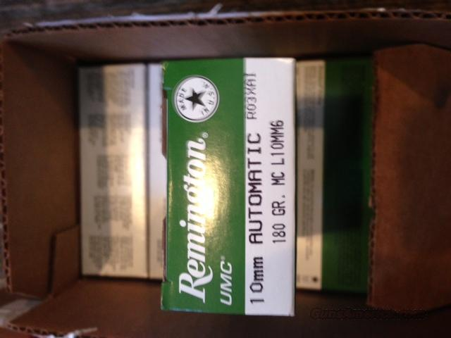 Remington 10MM 180 GR UMC MC 50 rnd box/ no additional charges for credit cards!!!!  Non-Guns > Ammunition