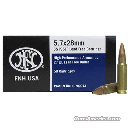500 RDS FNH 5.7x28 Ammo Lead Free ss195LF 27 Grain Hollow Point!!!! Give Us A call Today!!!  Non-Guns > Ammunition