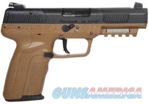"Five-seveN Single 5.7mmX28mm 4.8"" 20+1 3 Mags FDE Poly Grip  Guns > Pistols > FNH - Fabrique Nationale (FN) Pistols > FiveSeven"