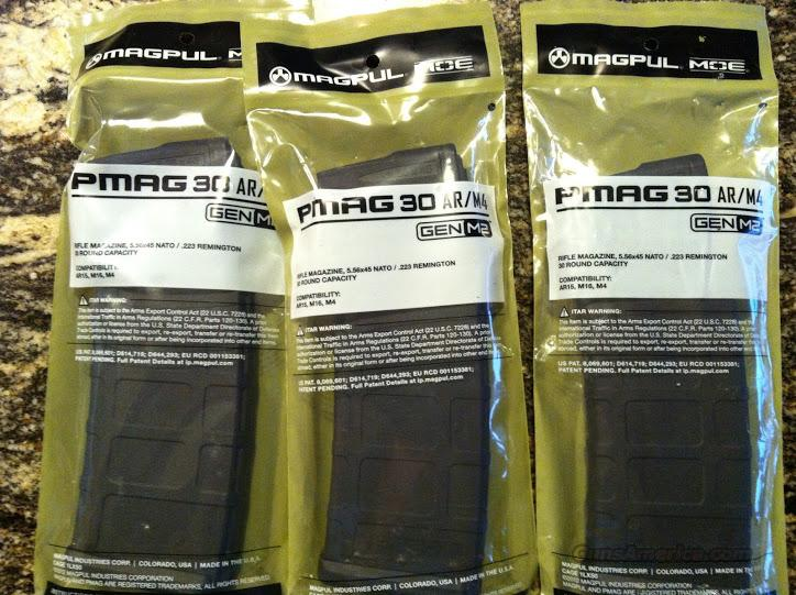 3 Magpul Pmag 30 FREE SHIPPING AR15 Mag m4 m16 ar-15  Non-Guns > Magazines & Clips > Rifle Magazines > AR-15 Type