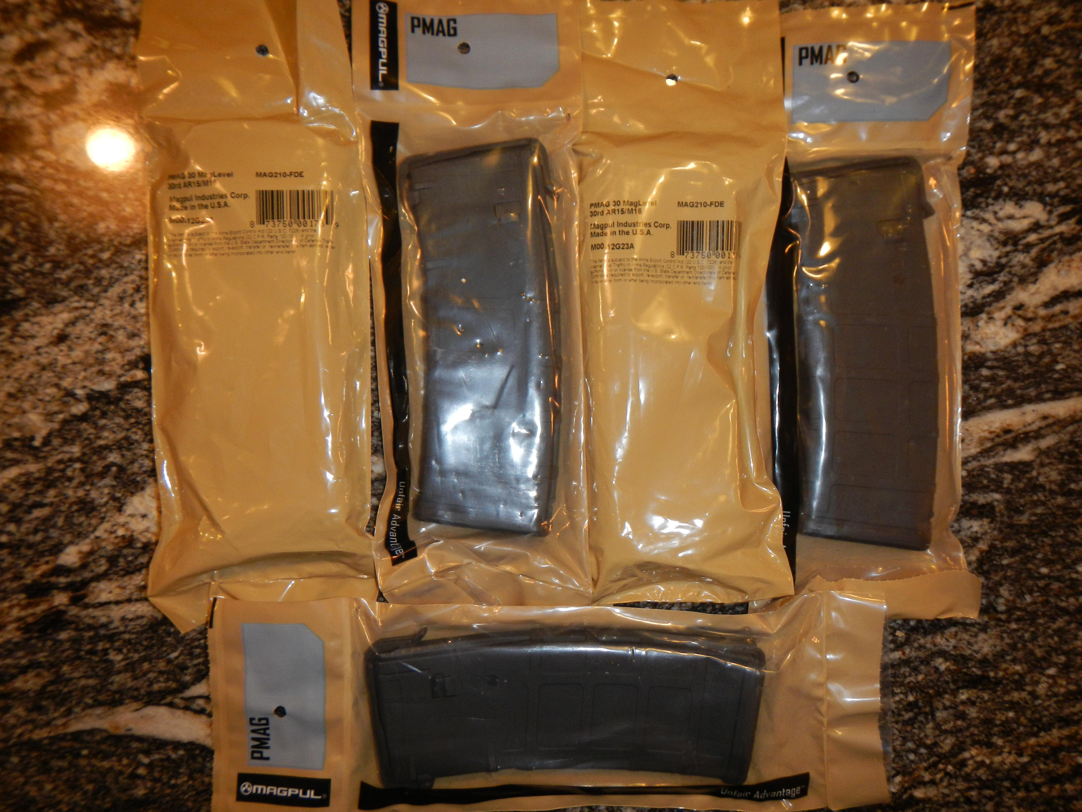 5 Magpul Pmag 30 Black New In Bag  Non-Guns > Magazines & Clips > Rifle Magazines > AR-15 Type