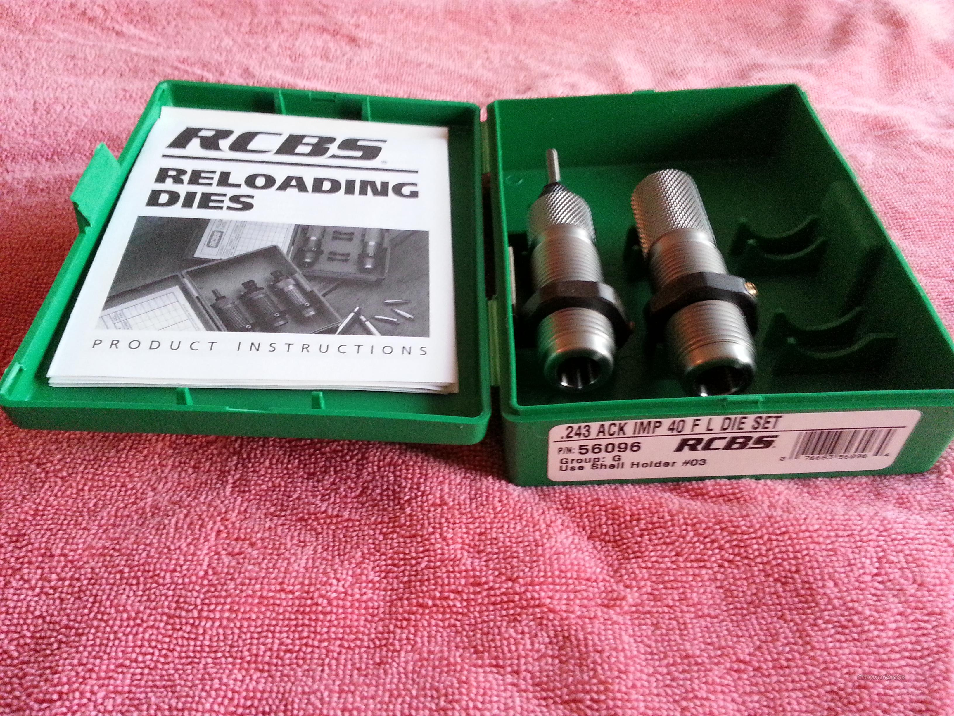 RCBS .243 Ackley Improved FL Die Set  Non-Guns > Reloading > Equipment > Metallic > Dies