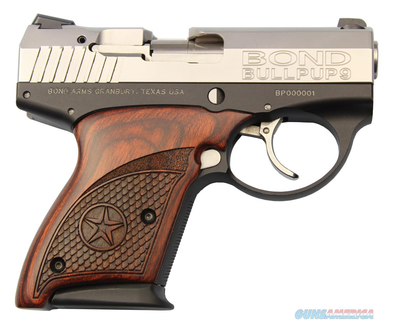 "Bullpup, 9mm, 3.35"" Barrel, Stainless Finish, Rosewood Grips, 2 7Rd Magazines  Guns > Pistols > Bond Derringers"