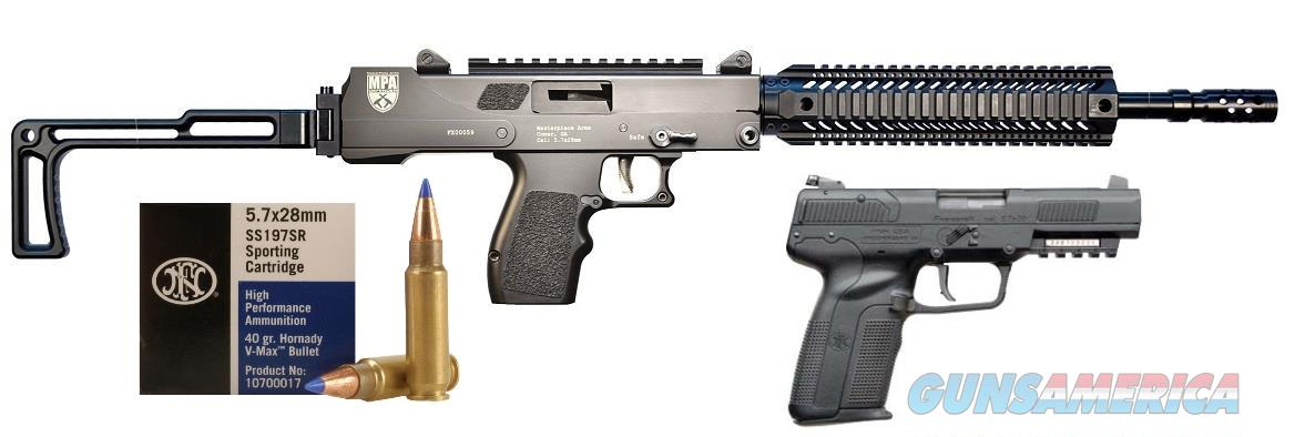 FNH 5.7 Pistol & MasterPiece Arms Carbine 5.7x28mm Package Deal with AMMO!!! No CC Fees!  Guns > Rifles > MasterPiece Arms Rifles > Defender