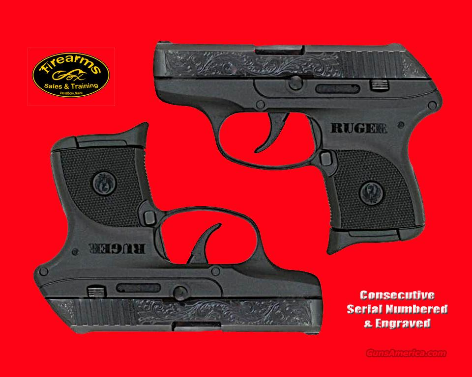 Consecutive Serial Number Pair of Engraved LCP Pistols  Guns > Pistols > Ruger Semi-Auto Pistols > LCP