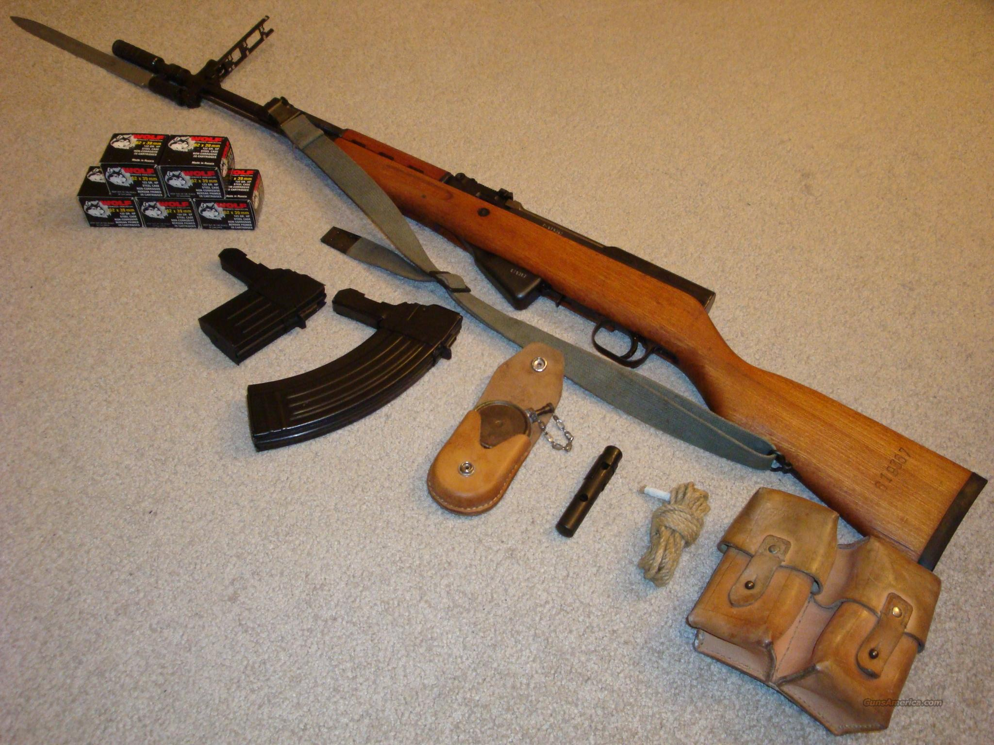 Yugoslavian SKS Assault/Sporting Rifle Military Surplus 7.62x39 w/ Original Accessories, (2) High Capacity Magazines, and 100 Rounds of Wolf 7.62x39 Ammo  Guns > Rifles > Norinco Rifles