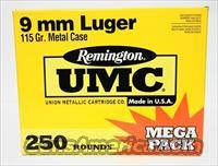 9mm Luger *Remington UMC 115gr FMJ 250 rds  Non-Guns > Ammunition
