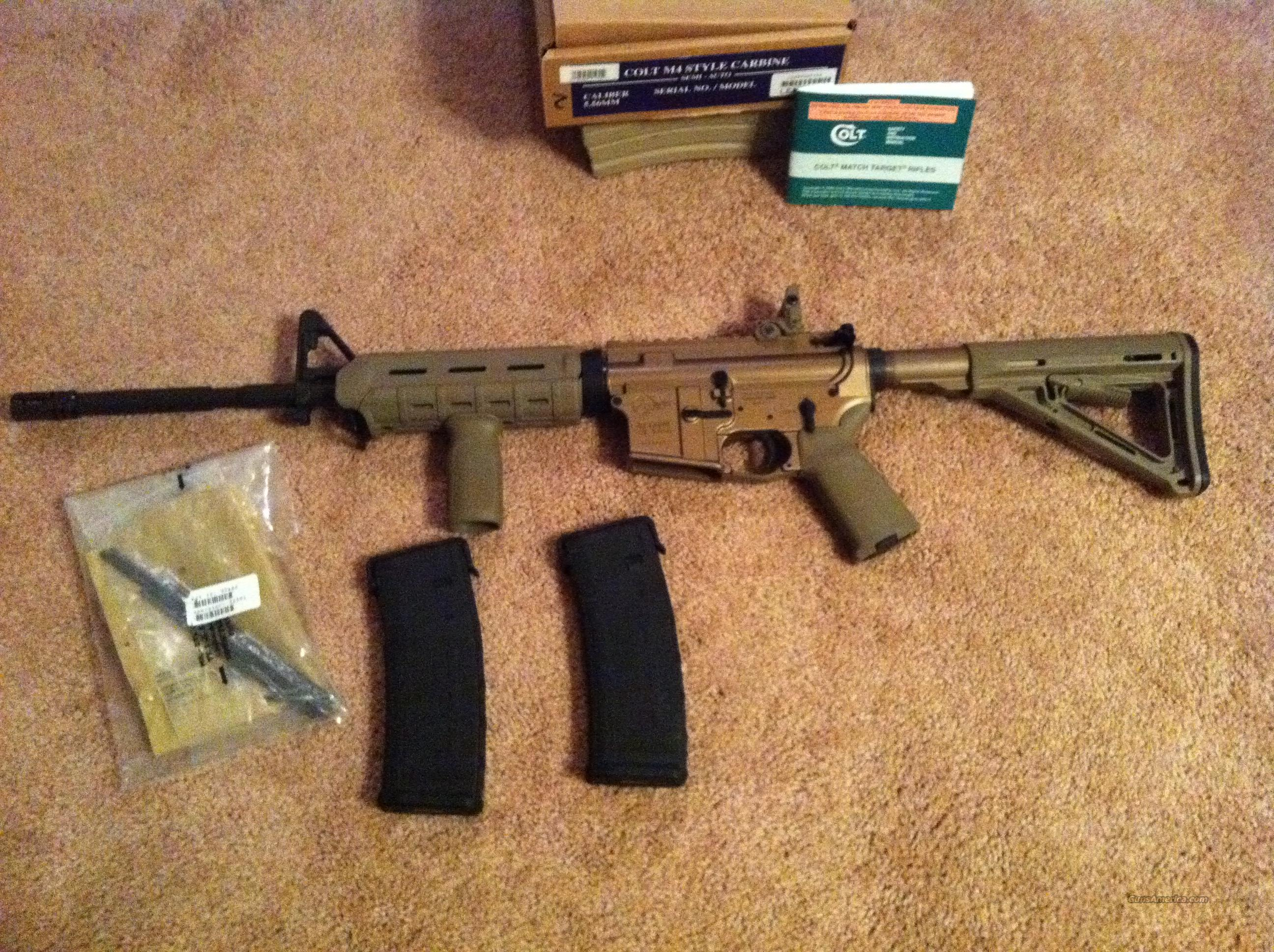 COLT Limited Edition LE6920 M4 FDE anodized receiver w/ Magpul Furniture AR15 and extra 30 rd. Magazines   Guns > Rifles > Colt Military/Tactical Rifles
