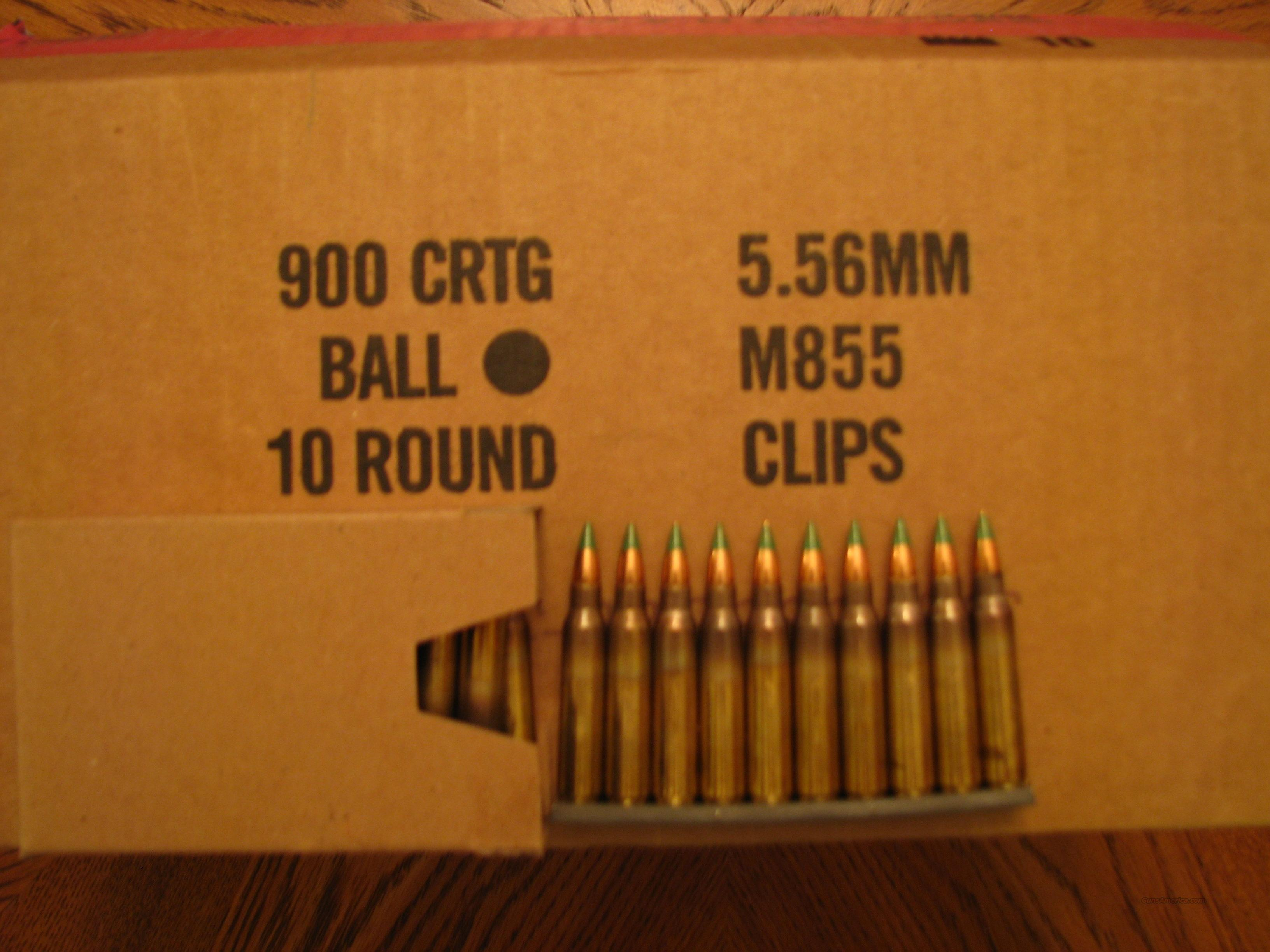 AR15 Ammo (900 Rounds) of 5.56 NATO, Lake City M855, 62 Grain Green Tip  Non-Guns > Ammunition