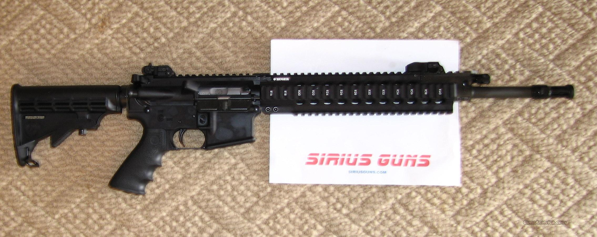 RUGER SR556 HIGH END MODEL 5902  with FOUR 30 round mags  Guns > Rifles > Ruger Rifles > SR-556