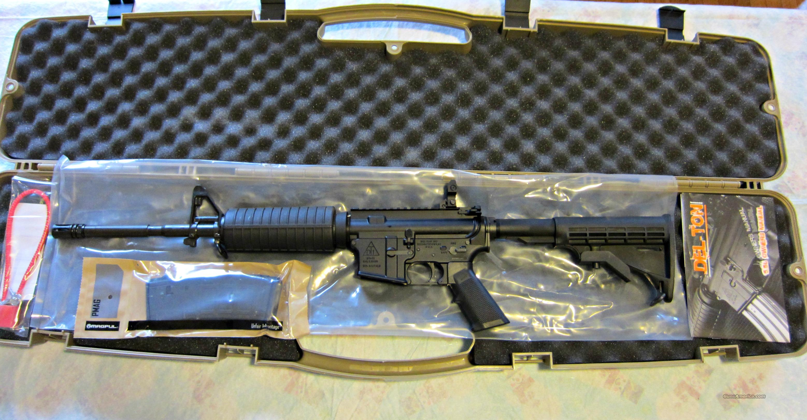 DEL-TON EXTREME DUTY AR-15 M4A3 FLAT TOP CHROME PLATED 16 INCH 1x7 MIL SPEC NIB  Guns > Rifles > AR-15 Rifles - Small Manufacturers > Complete Rifle