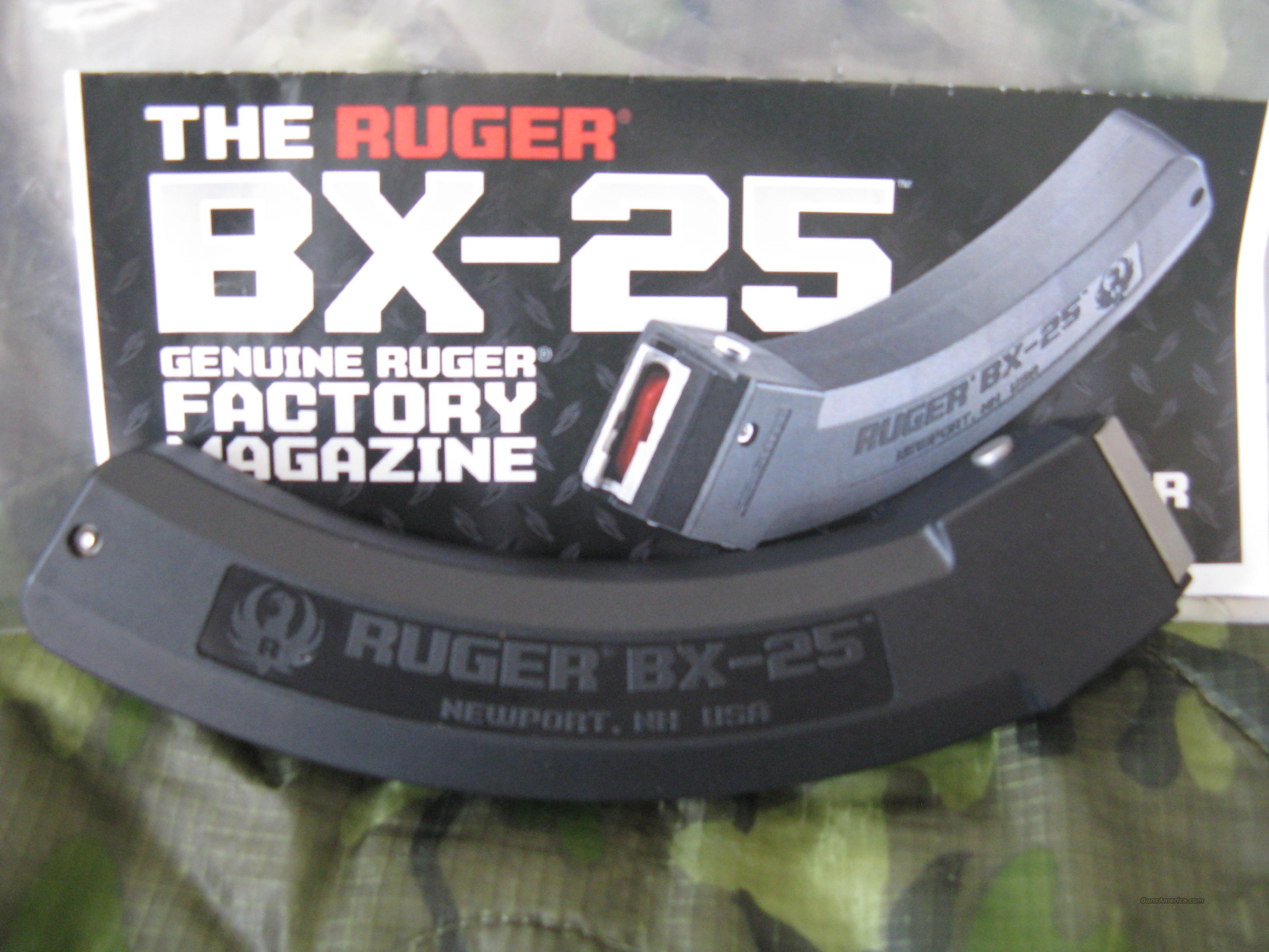 One (1) New Ruger BX-25, 25-round magazine  Non-Guns > Magazines & Clips > Rifle Magazines > 10/22