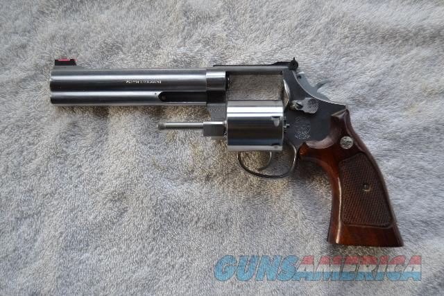 S&W 686-3, stainless steel, L frame square butt, 6 in underlug bbl, non-fluted cylinder, .357 mag  Guns > Pistols > Smith & Wesson Revolvers > Full Frame Revolver