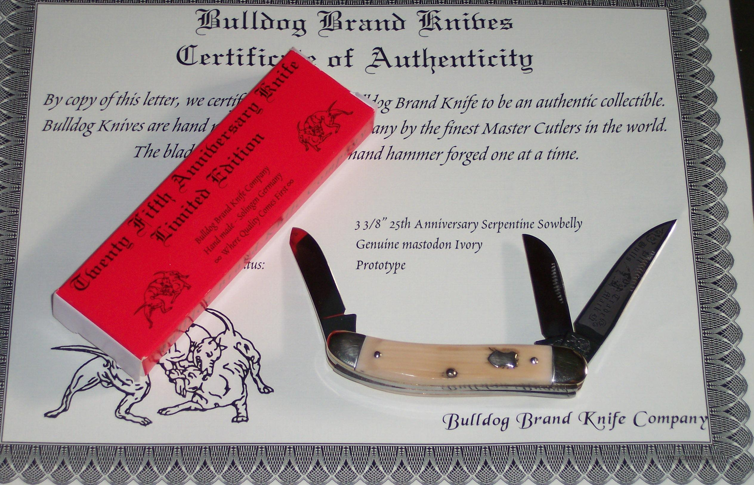 German Bulldog Sowbelly Stockman Prototype  Non-Guns > Knives/Swords > Knives > Folding Blade > Hand Made
