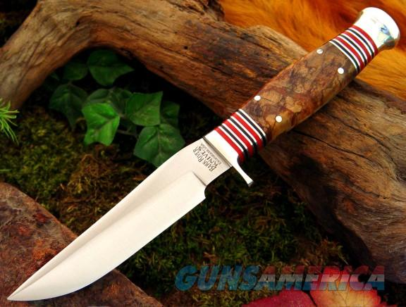 Bark River 2009 Custom Skinner Spalted Maple Burl  Non-Guns > Knives/Swords > Knives > Fixed Blade > Hand Made