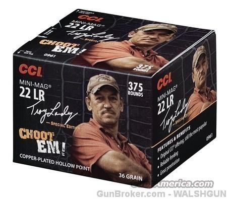 CCI Mini-Mag High Velocity Ammunition Troy Landry Special Edition 22 Long Rifle 36 Grain Plated Lead Hollow Point Box of 375 22 LR Ammo  Non-Guns > Ammunition