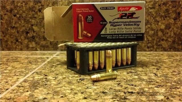 22 LR ammo 1750/fps 30gr Aguila Sup Max 1000rds  -  These are faster than CCI MiniMags and Stingers!!!!  Non-Guns > Ammunition