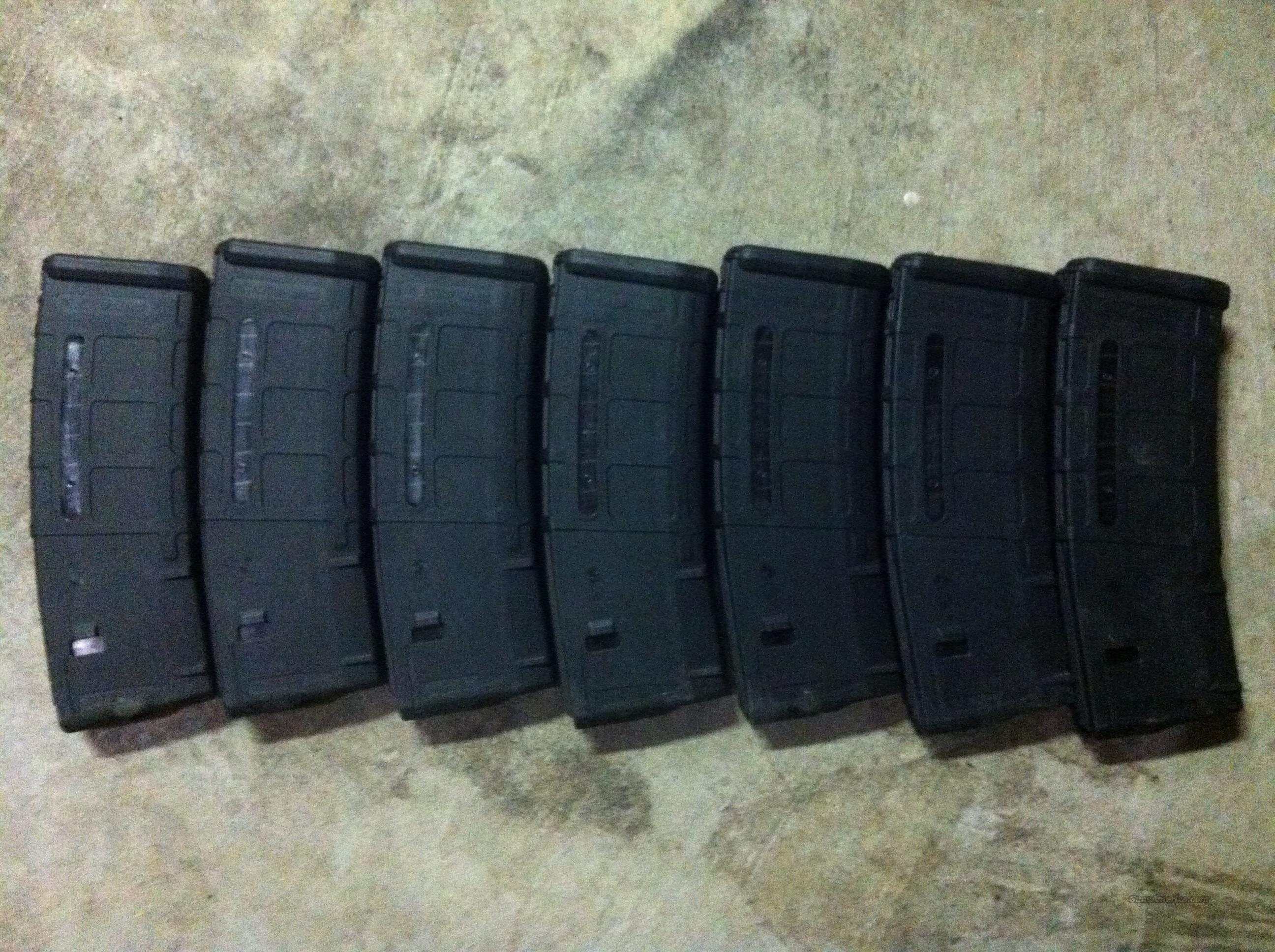 Magpul 30rd mags w/ bullet window (7)  Non-Guns > Magazines & Clips > Rifle Magazines > AR-15 Type