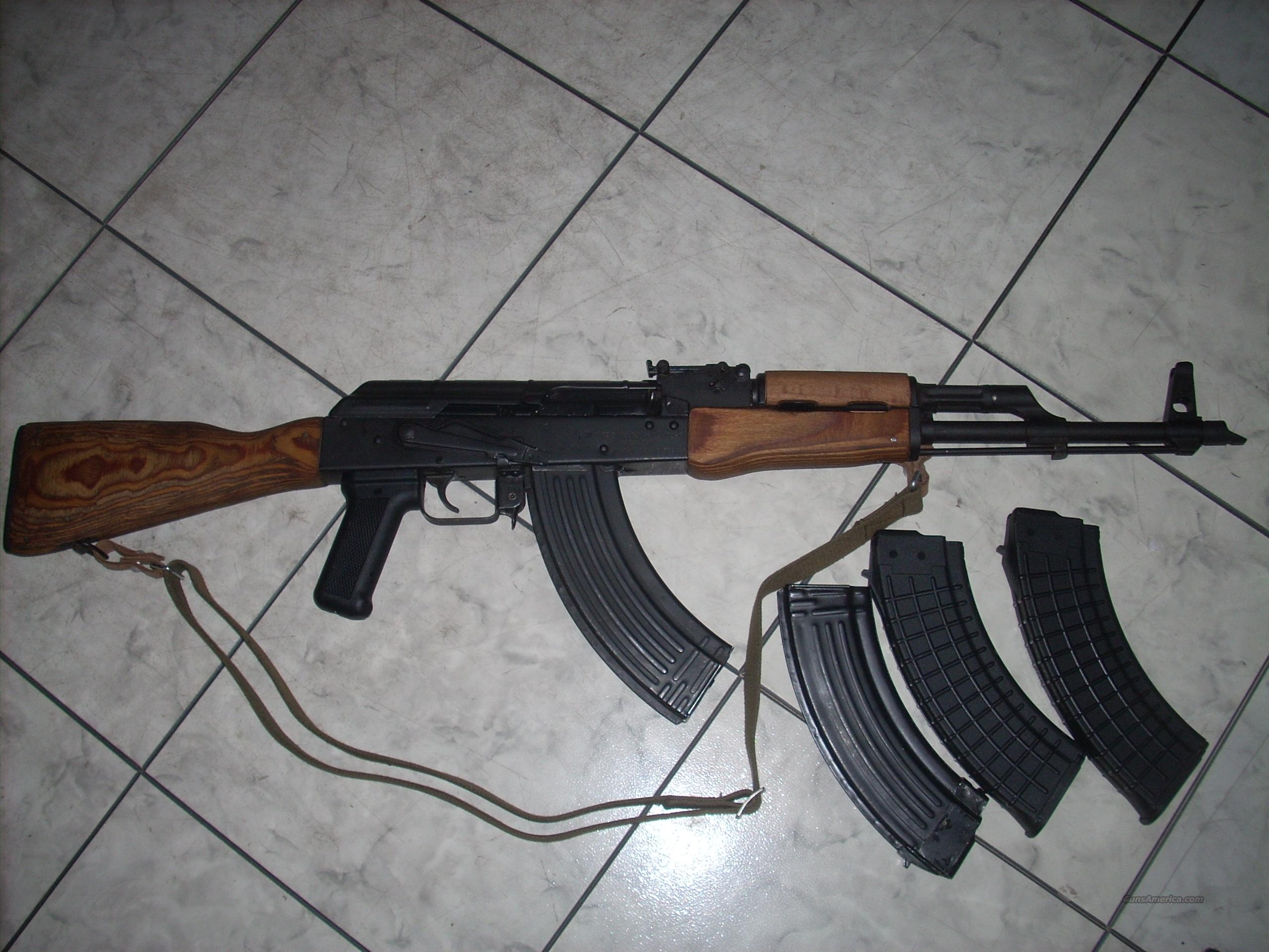 AK47 GP WASR 10/63 ROMARM 7.62X39mm  Guns > Rifles > AK-47 Rifles (and copies) > Full Stock