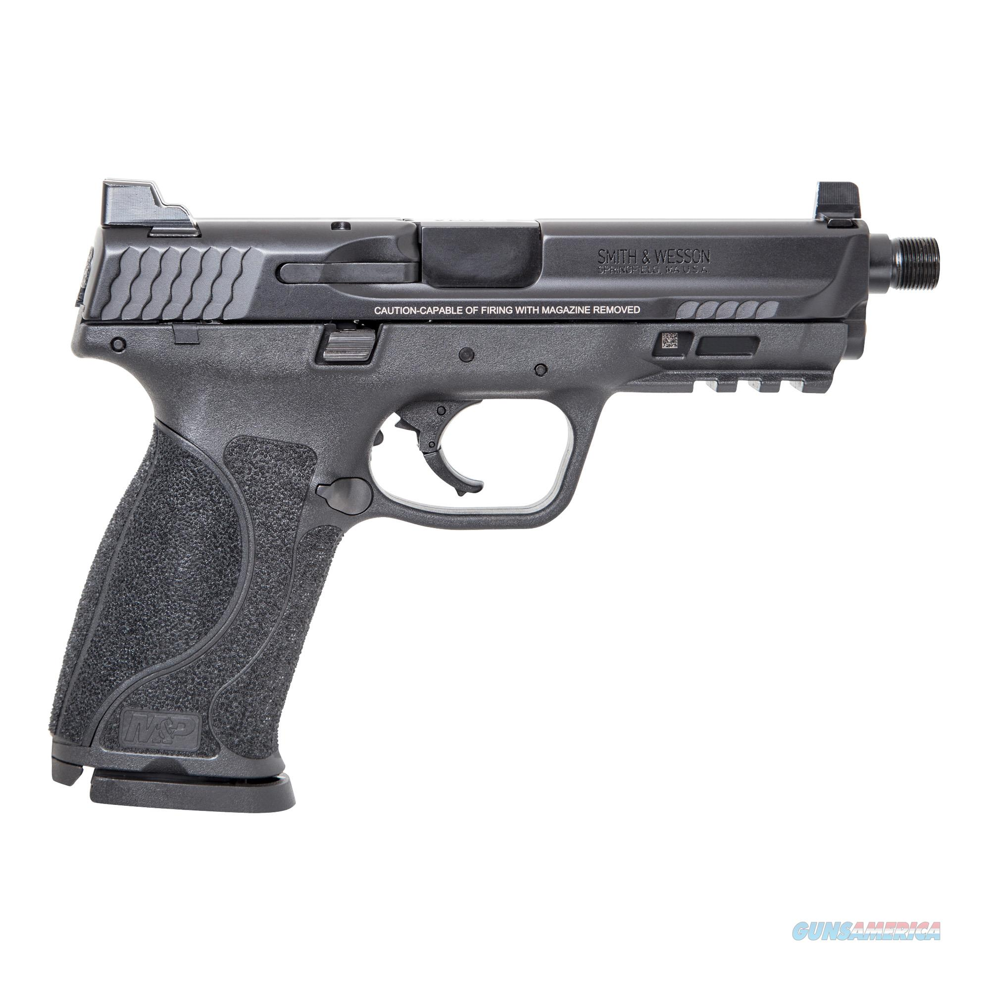 """Smith & Wesson Law Enf, LEDSW11770 M&P 2.0, Semi-automatic, Striker Fired, 9MM, 4.625"""", Polymer, Black, 17Rd, Threaded, Suppressor Sights  Guns > Pistols > Smith & Wesson Pistols - Autos > Polymer Frame"""