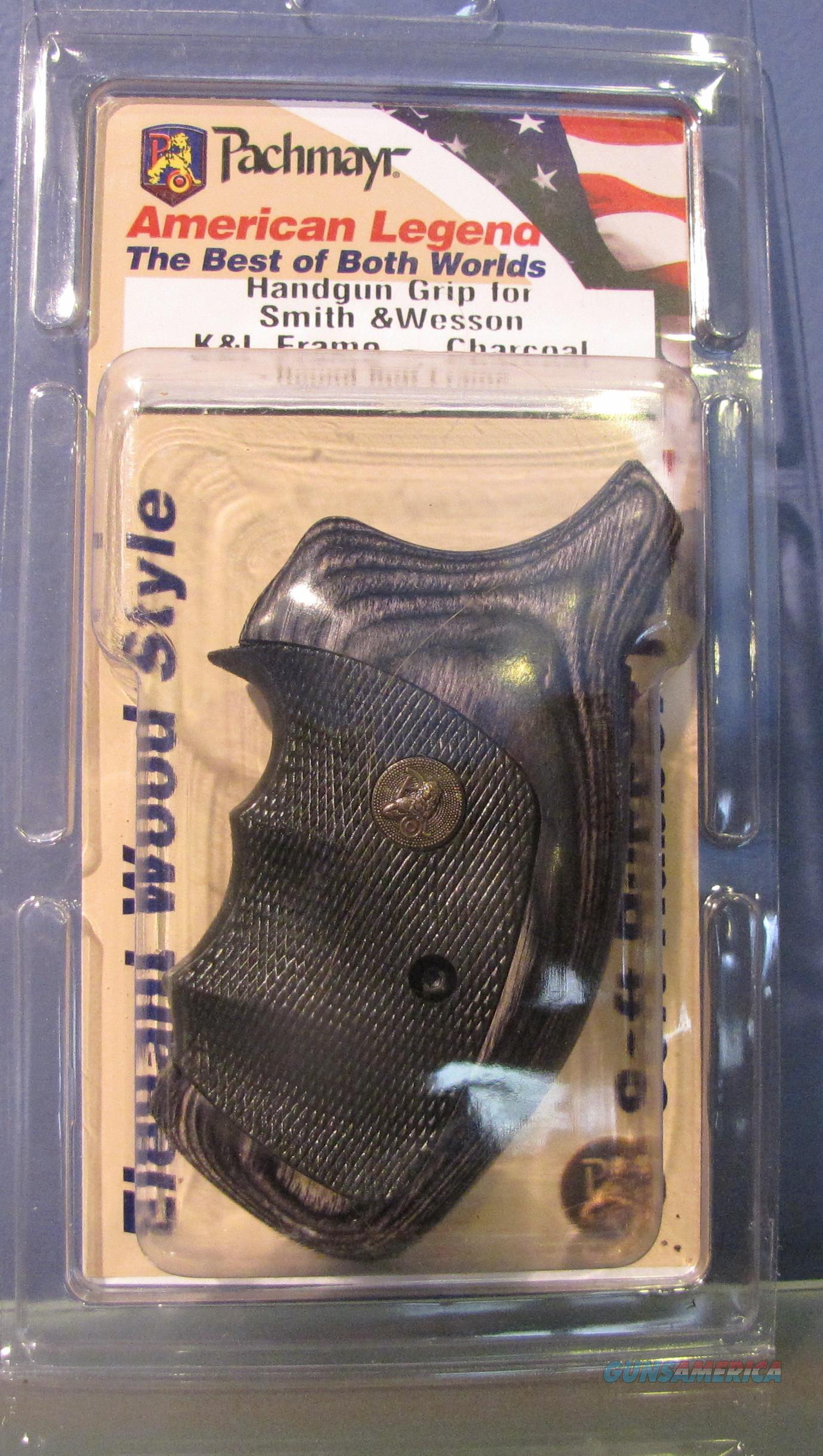 "Pachmayr American Legend S&W Revolvers ""K&L"" Frame,""Charcoal Silvertone"" / No CC Fees  Non-Guns > Gunstocks, Grips & Wood"