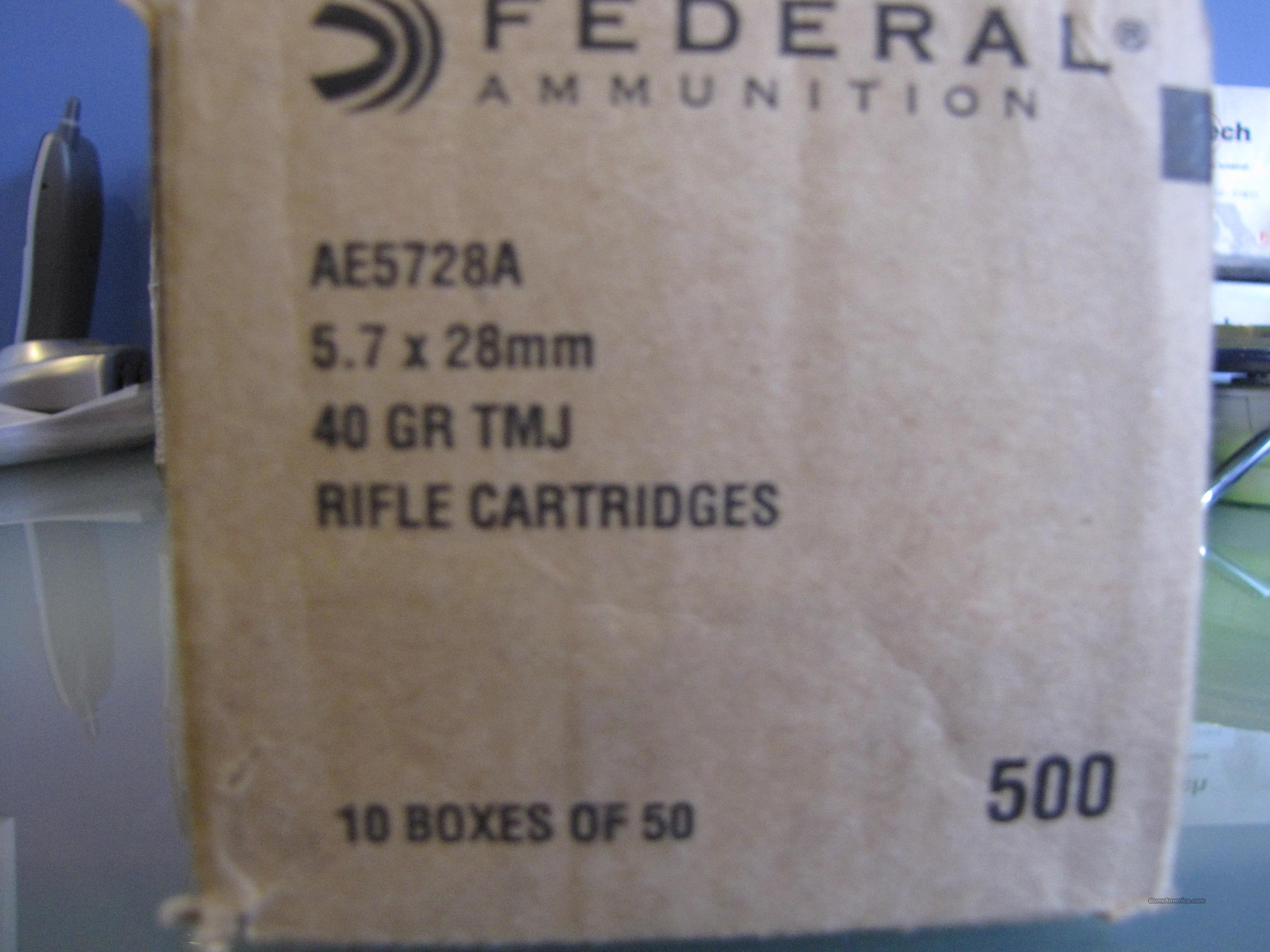 Federal AE 5.7x28mm 40gr/ 500rds/ Free Ship  Non-Guns > Ammunition