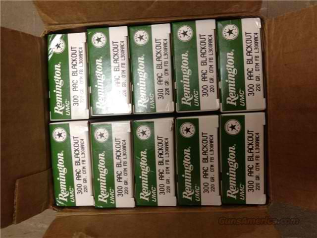Remington 300 BLACKOUT 220gr SubSonic/400rds   Non-Guns > Ammunition