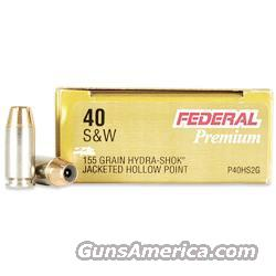 250 rds Federal Hydra Shok 40 S&W 155 gr  Non-Guns > Ammunition