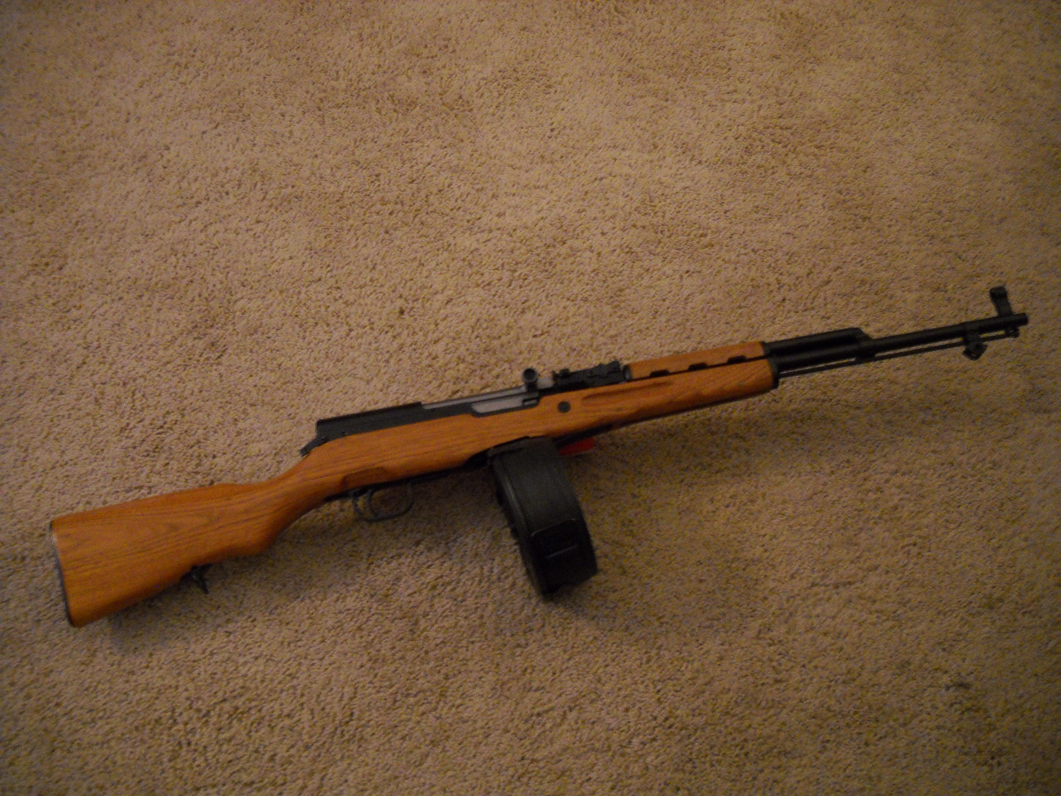 Custom, Drum Fed (75 rd) SKS Rifle  Guns > Rifles > SKS Rifles