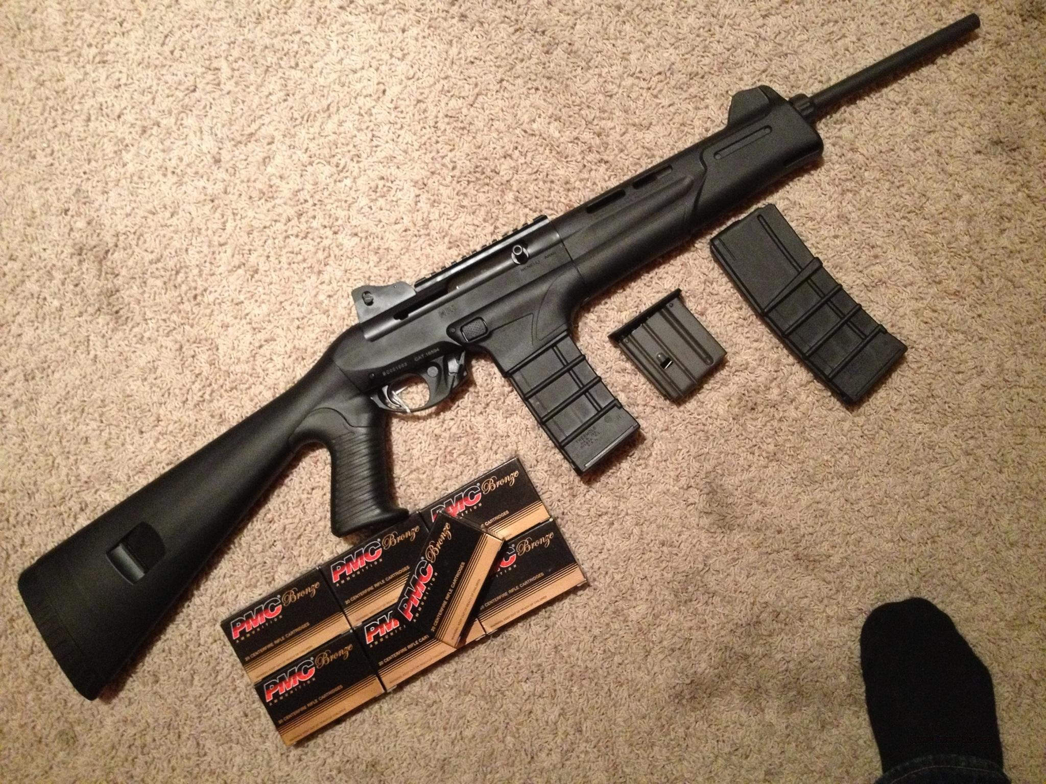 Benelli MR1 .223 (5.56 NATO) AR type with 140 rounds of ammo and 2 30 rd mags  Guns > Rifles > Benelli Rifles