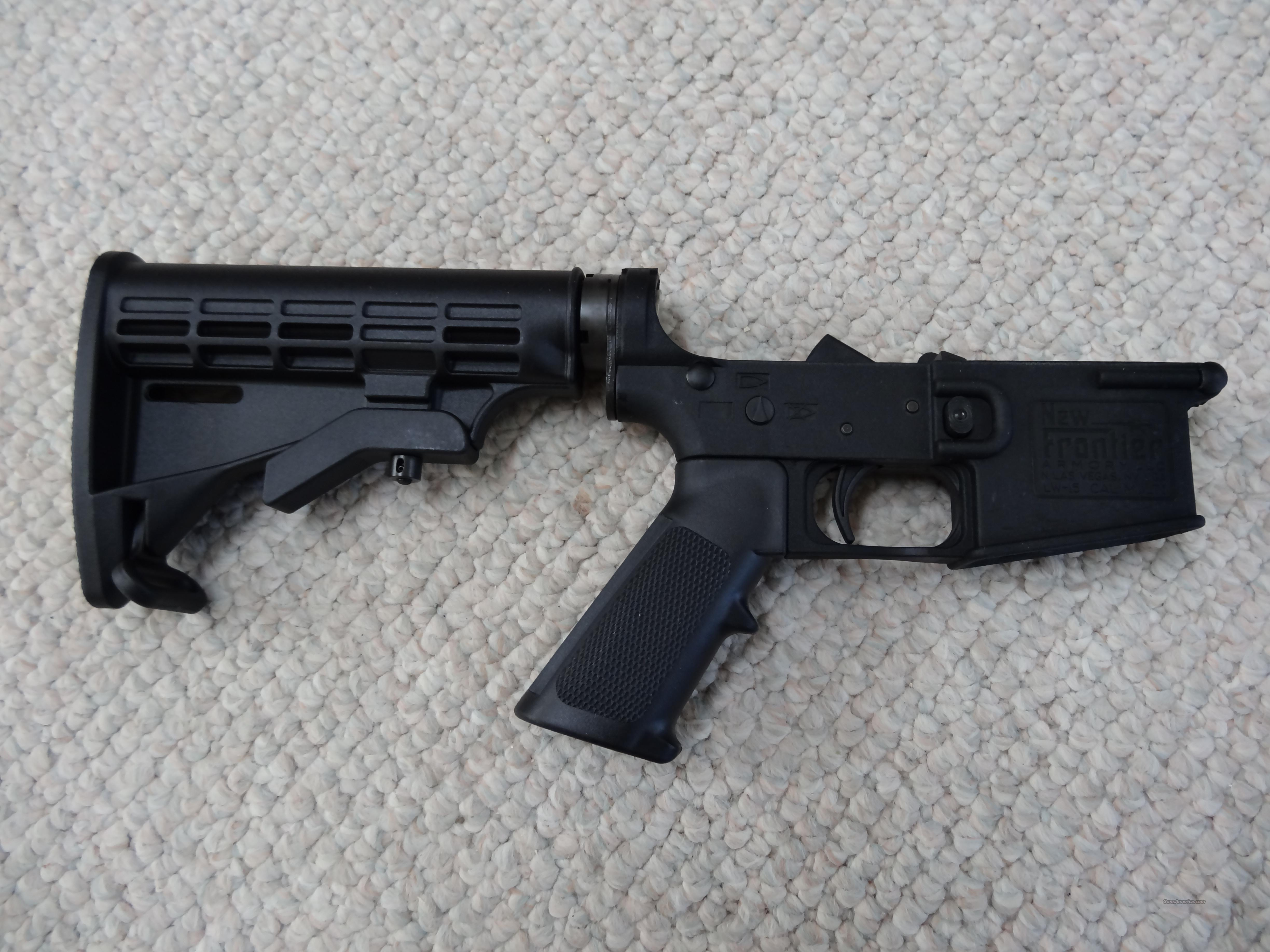 New Frontier Armory LW-15 AR Complete Lower Receiver  Guns > Rifles > AR-15 Rifles - Small Manufacturers > Lower Only