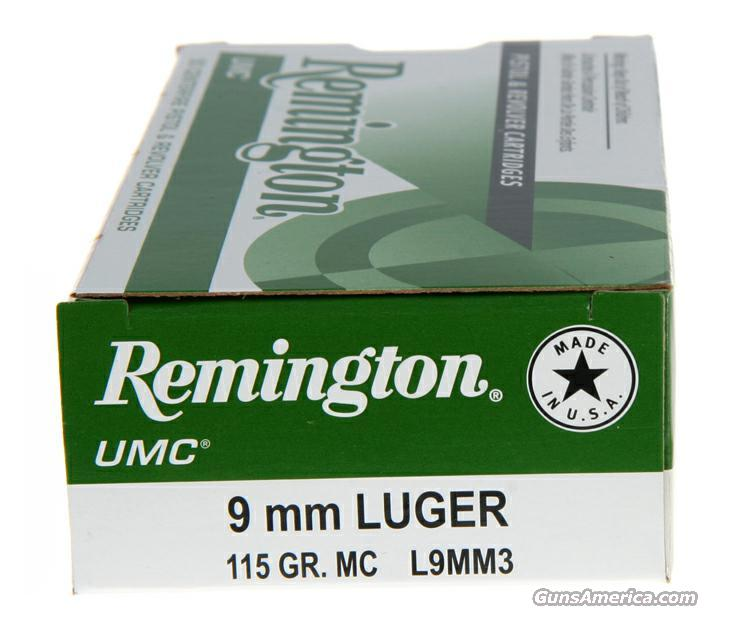 500 rds 9mm 115gr FMJ Remington Ammo  Non-Guns > Ammunition