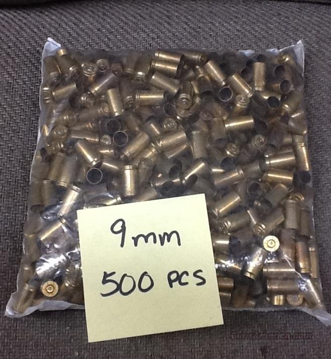 9mm brass - once fired - 1000pcs  Non-Guns > Reloading > Components > Brass