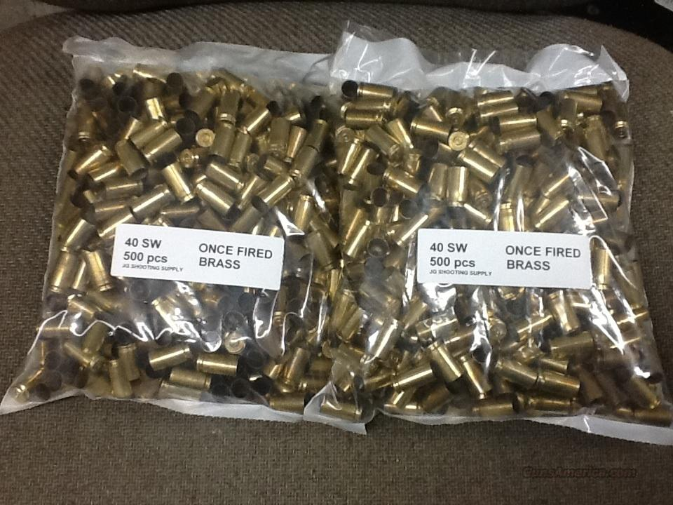 40 SW Brass - 2000 pcs  Non-Guns > Reloading > Components > Brass