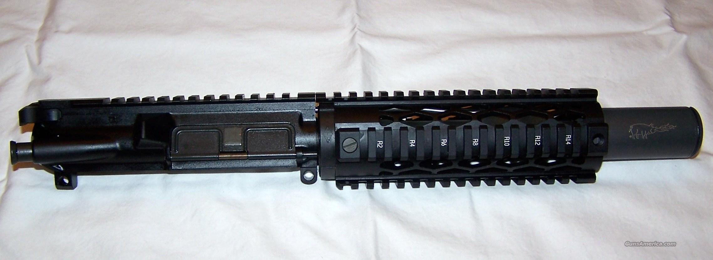 AR-15 AR15 Complete SBR Pistol Upper Receiver .223 Bushmaster BCM Noveske YHM Chrome Bolt / Carrier Group Troy M7 Pelican Case  Guns > Rifles > AR-15 Rifles - Small Manufacturers > Upper Only