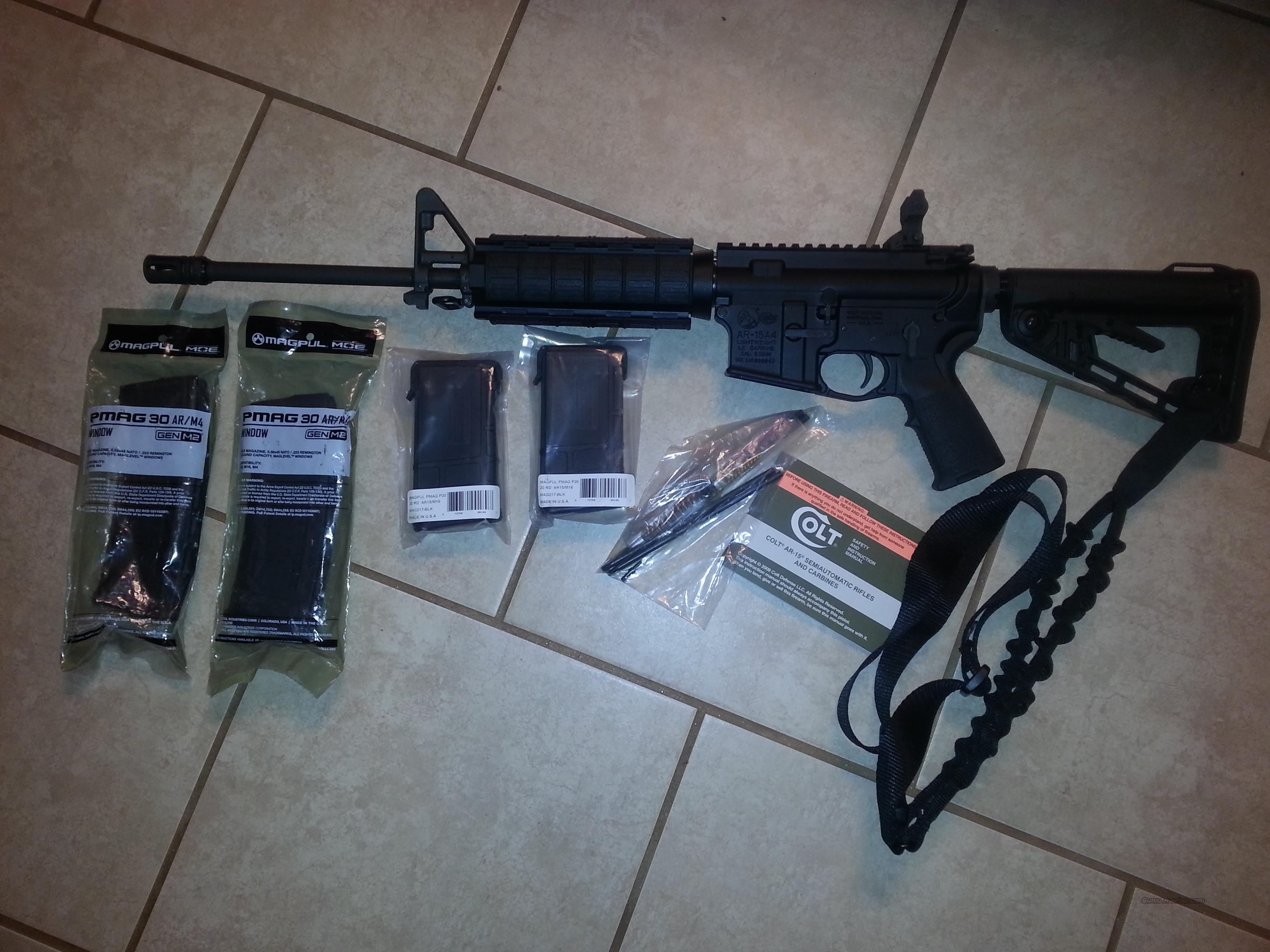 NEW NEVER FIRED COLT AR15 6720 WITH MAGPUL EXTRAS & QUADRAIL  Guns > Rifles > Colt Military/Tactical Rifles