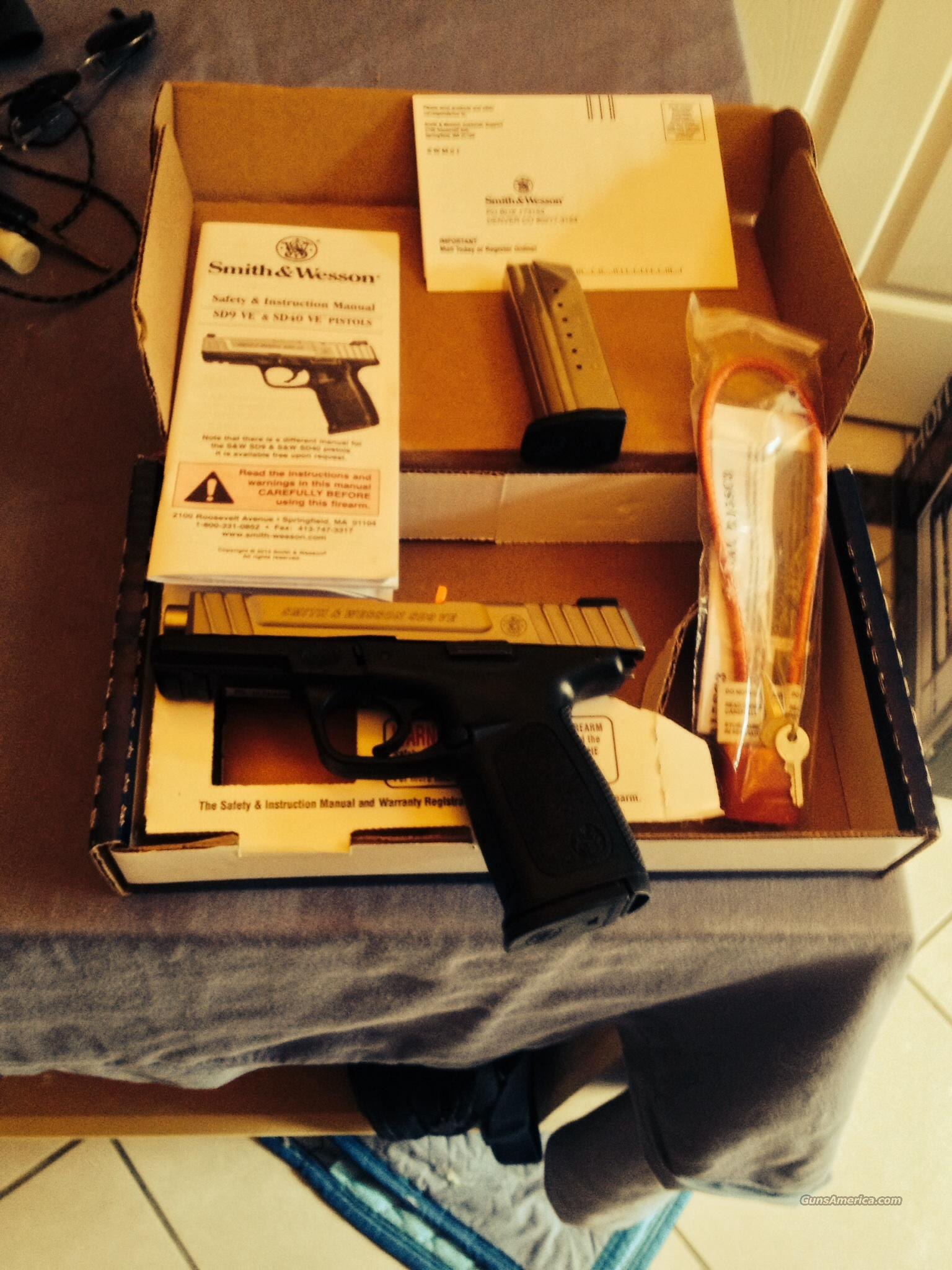 NIB Smith & Wesson SD9 VE 9mm   Guns > Pistols > Smith & Wesson Pistols - Autos > Polymer Frame
