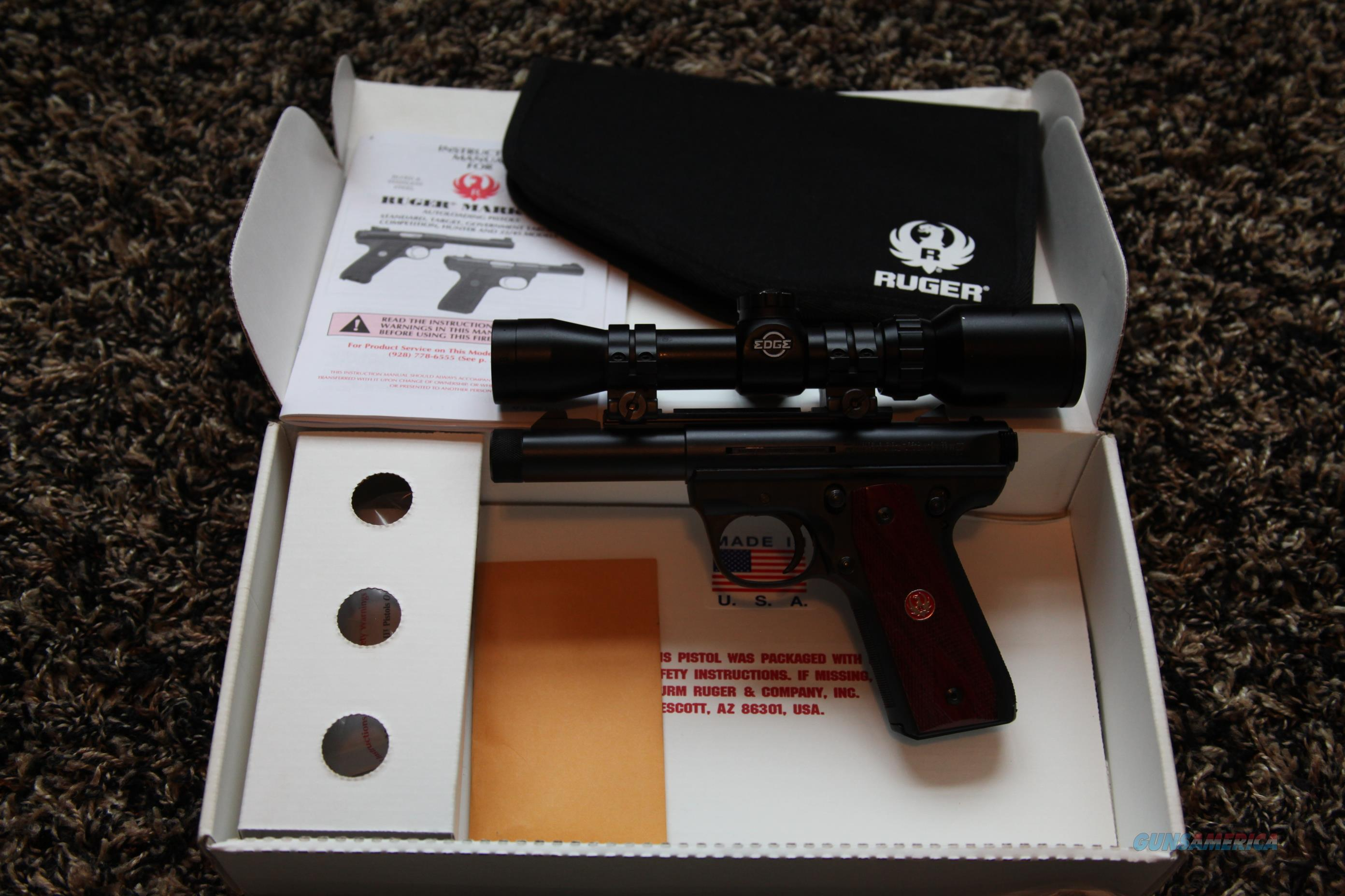 RUGER 22/45 THREADED BARREL WITH SCOPE  Guns > Pistols > Ruger Semi-Auto Pistols > 22/45