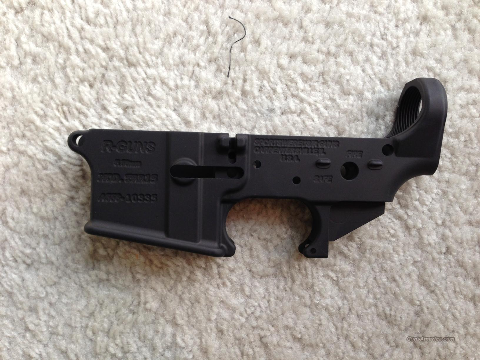*** RGUN STRIPPED LOWER RECEIVER 5.56 NATO 223 FOR BUILD AR15 AR 15 AR-15 SEMI AUTOMATIC SEMI AUTO RIFLE NOT BUSHMASTER COLT DPMS ROCK RIVER ARMS  Guns > Rifles > S Misc Rifles