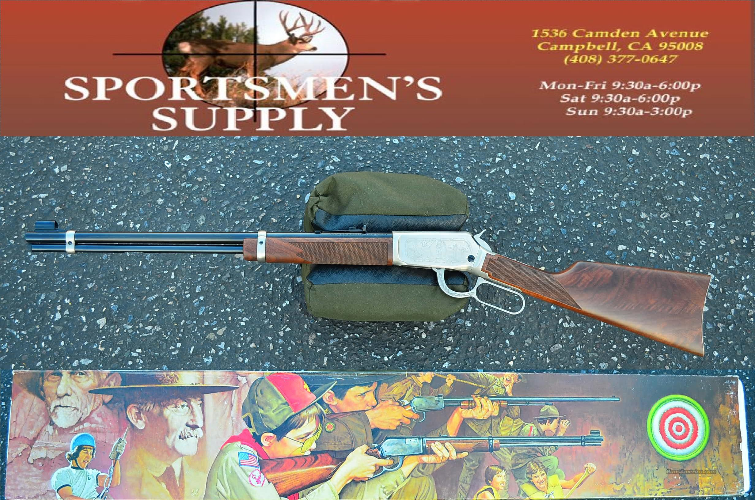 WINCHESTER 9422 LEVER 75th ANNIVERSARY BOU SCOUTS of AMERICA  Guns > Rifles > Winchester Rifle Commemoratives