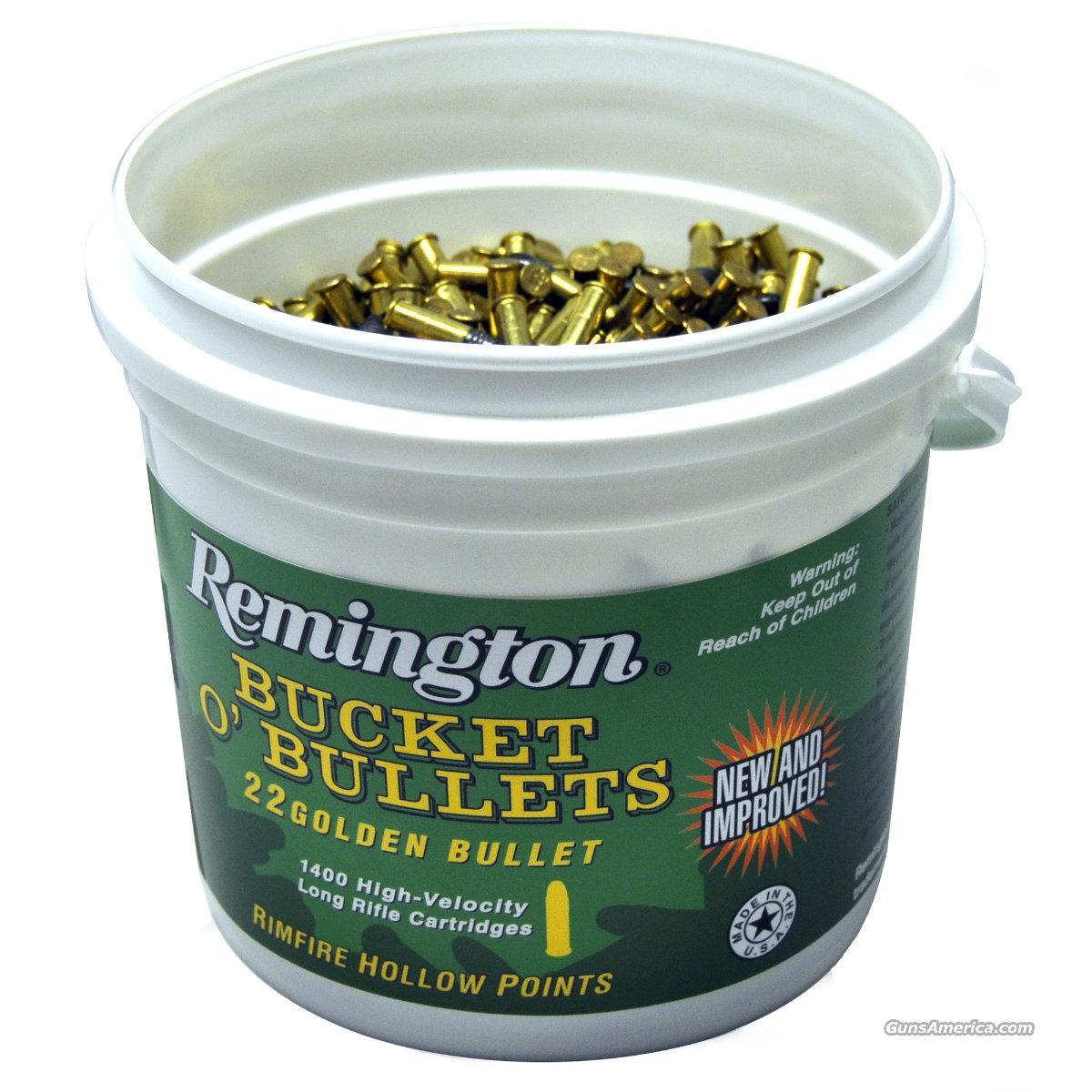 Remington Bucket O' Bullets, .22 Ammo LR, 1400 Rounds  Non-Guns > Ammunition
