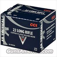 CCI 22 ammo Long Rifle AR Tactical Ammunition  Non-Guns > Ammunition