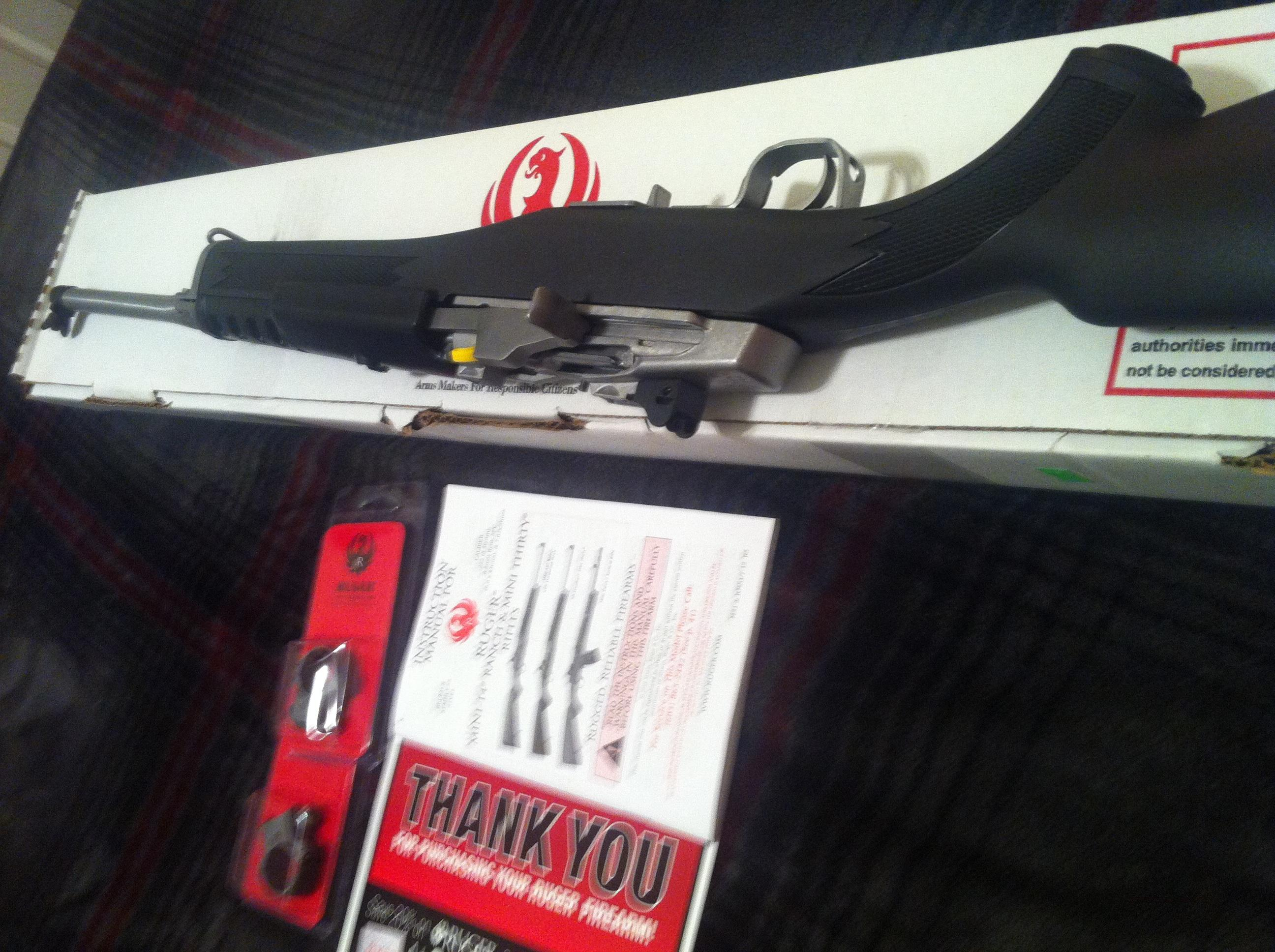 Ruger Mini 14 Ranch Rifle 223 5.56 Model # 5805 Stainless Steel with Synthetic Stock   Guns > Rifles > Ruger Rifles > Mini-14 Type