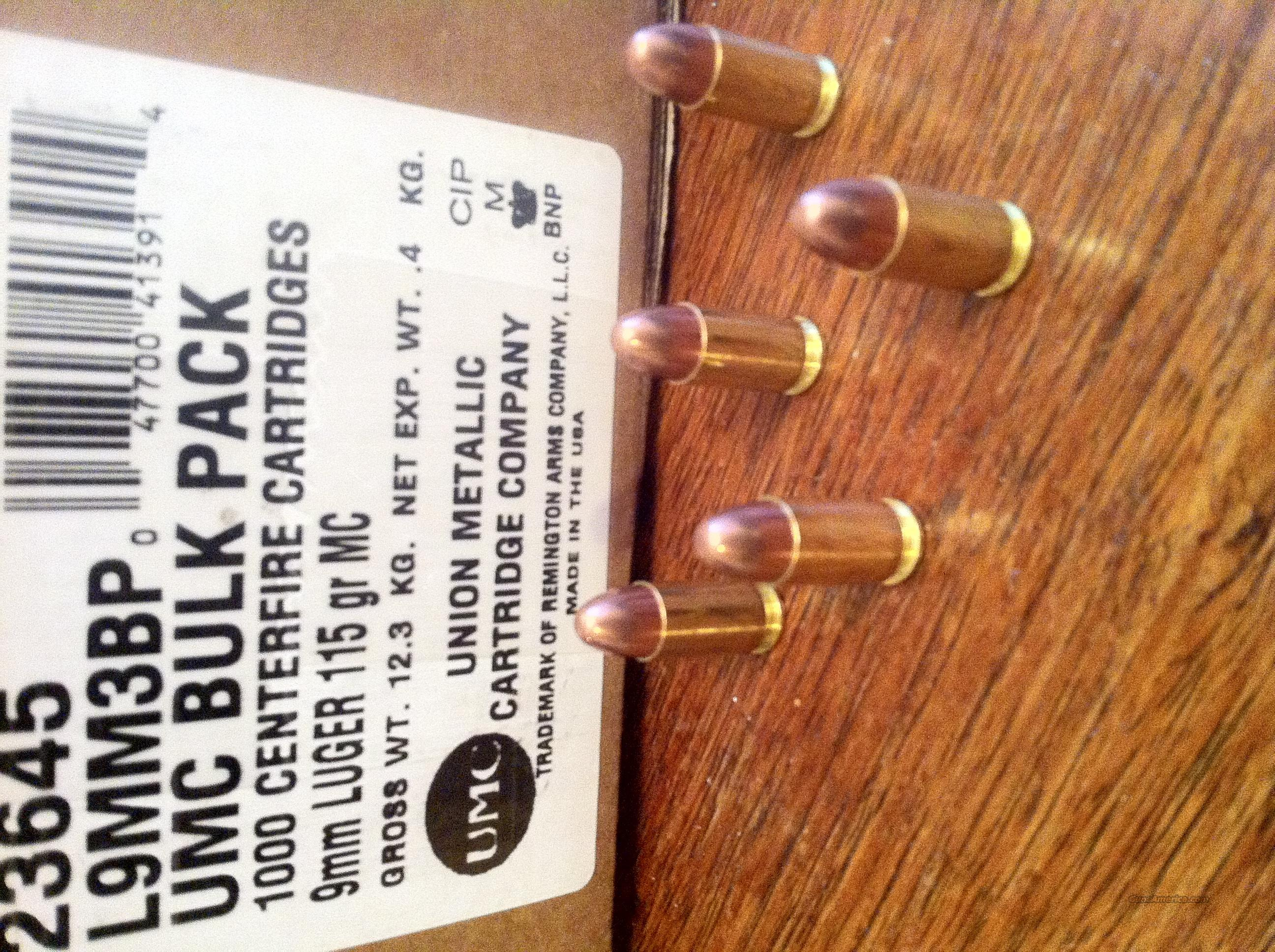 9mm 1000 rounds!  Bulk Purchase 9 mm Remington 1000 Rounds   Non-Guns > Ammunition
