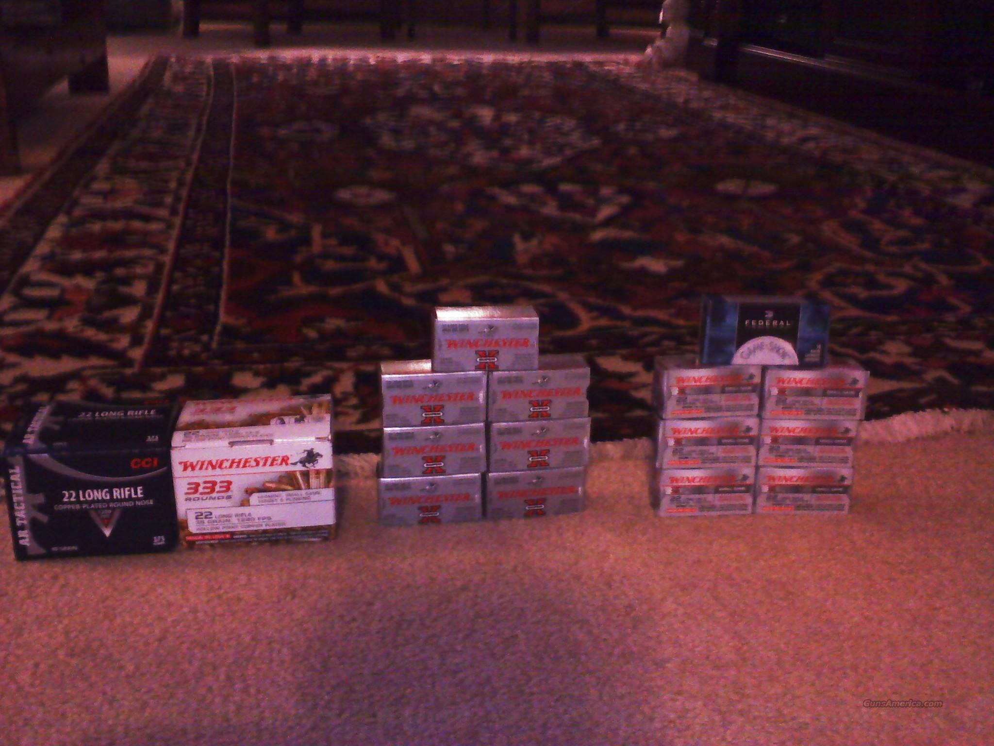 Huge lot of .22 LR Ammo Bulk 22 Ammunition Rds 1500 Rounds New  Non-Guns > Ammunition