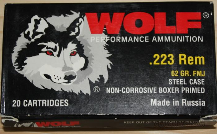 Wolf .223 62 Grain, FMJ   Non-Guns > Ammunition